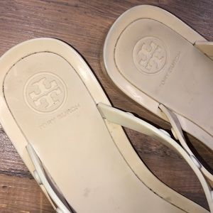 Tory Burch Shoes - Tory Burch Studded Logo Jelly Rubber  Flat Sandals